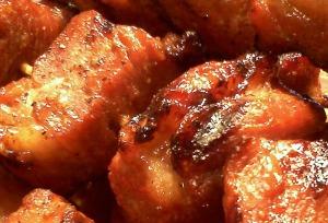 marinated pork kebabs